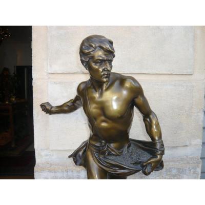 Sculpture En Bronze De  Henri Désiré Gauquié