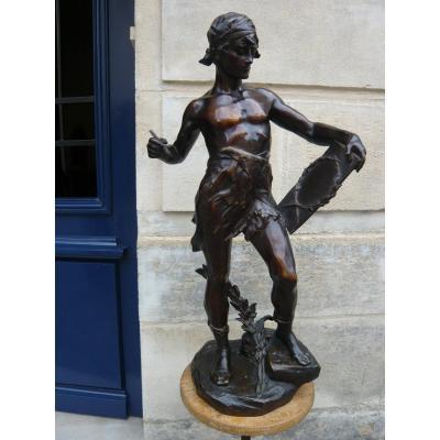 Grande Sculpture En Bronze De Drouot