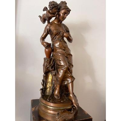 Grande Sculpture En Bronze De Carlier