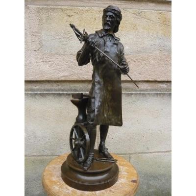Bronze Sculpture Of Charles Anfrie
