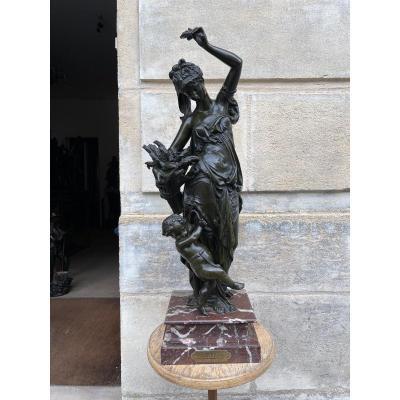 """Sculpture en bronze  """" L'été """" de Carrier Belleuse"""