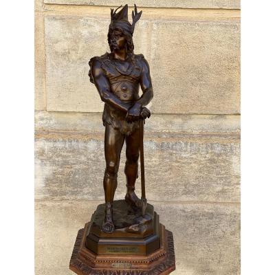 """Sculpture en bronze """"Vercingetorix"""" par Debut"""