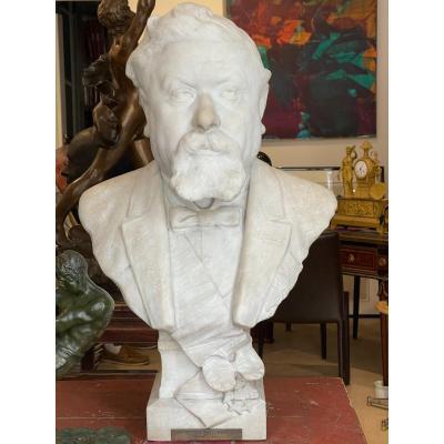 Sculpture En Marbre Représentant Armand Fallières Président De La République