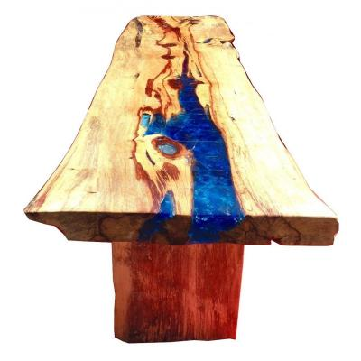 Console Ou Table En  Resine fractale Et Bois  Precieux Le