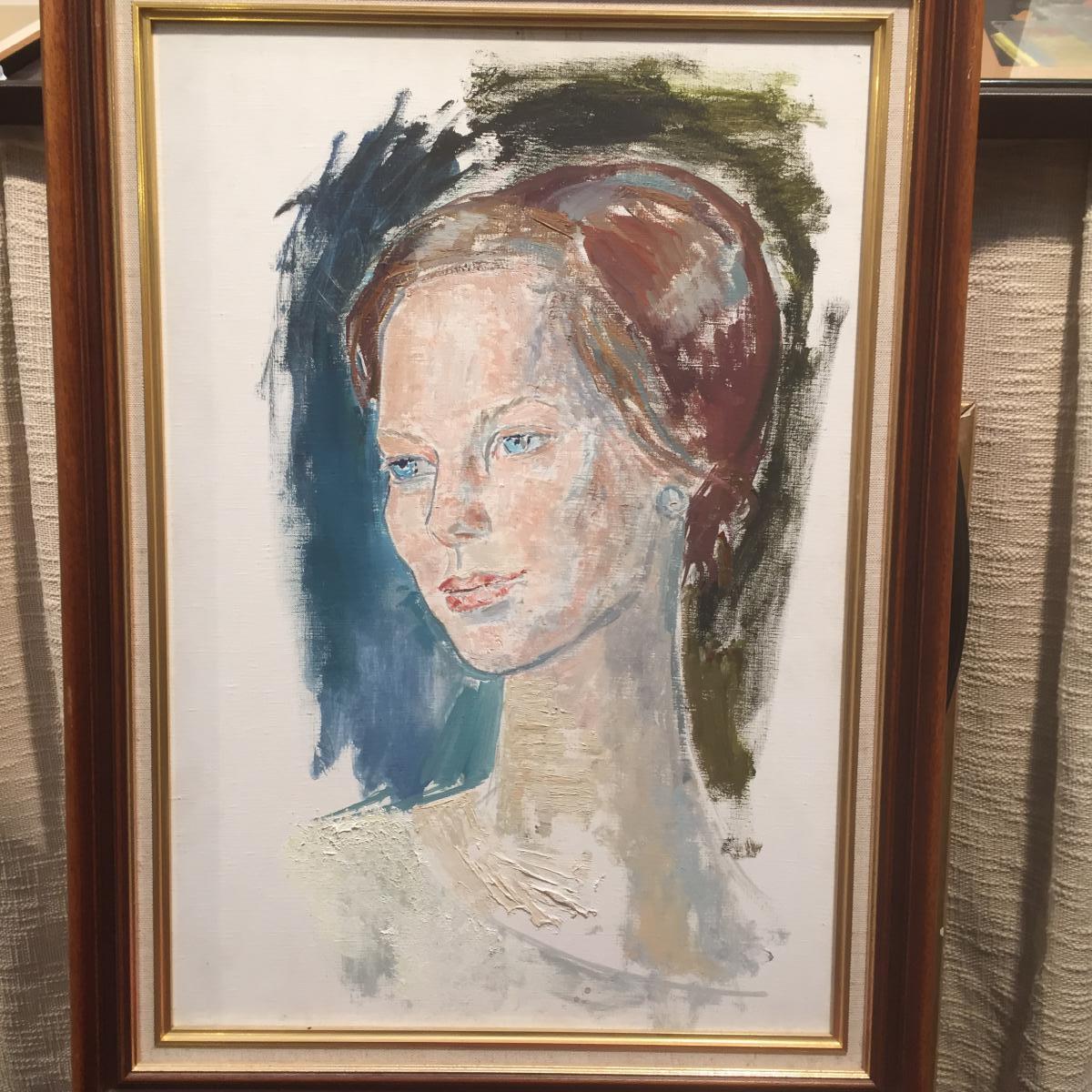 Portrait de la future Margrethe II,reine du Danemark par Edouard Mac Avoy
