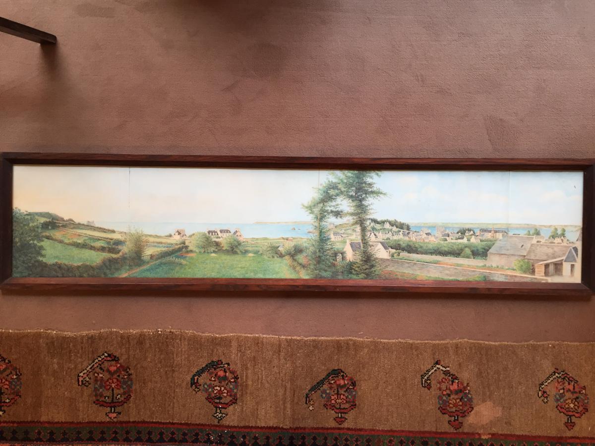 Panorama à l'Aquarelle d'Une Vue De Bretagne