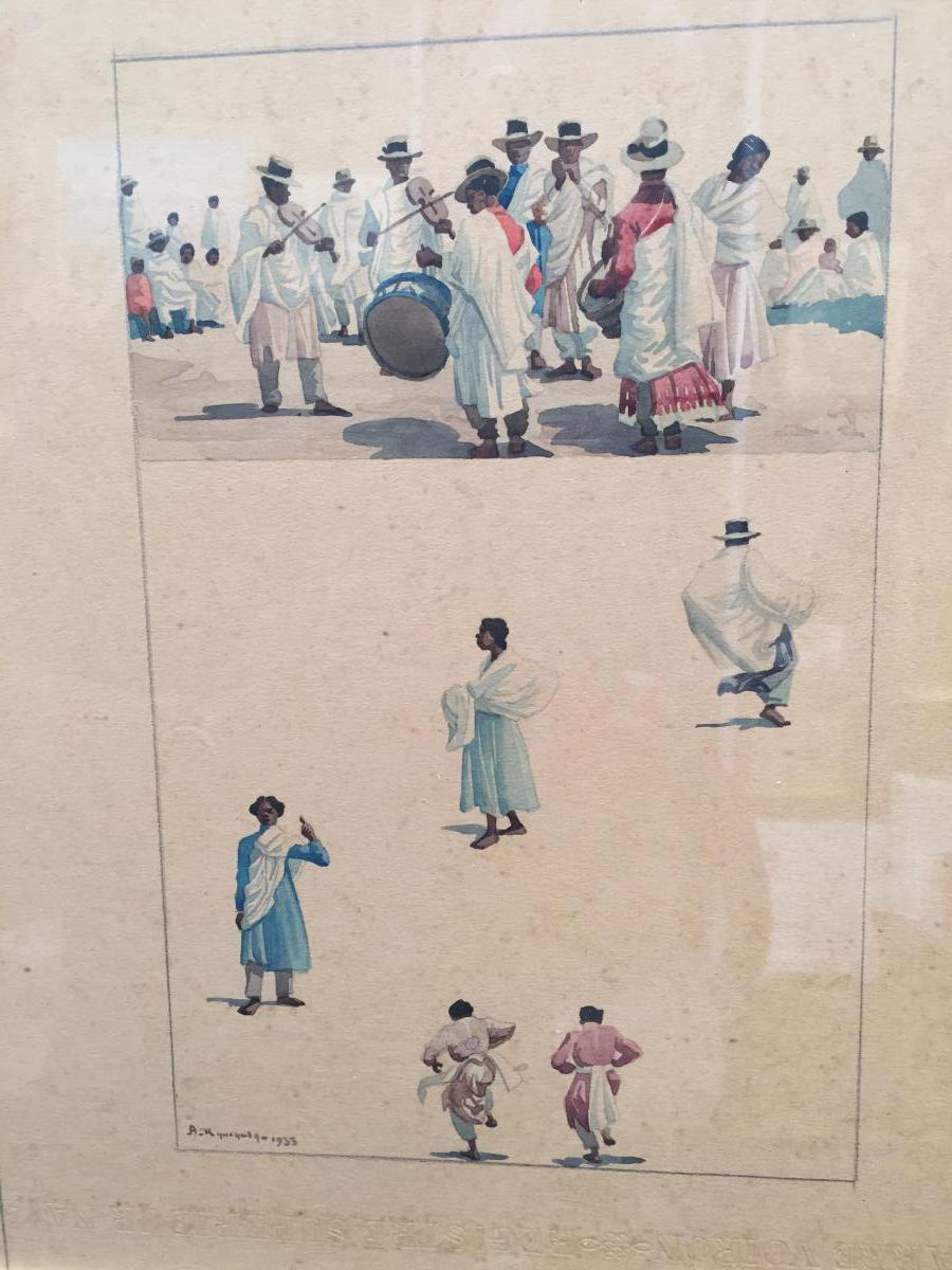 Malagasy Dances, Watercolors De A.ramanda 1933-photo-3