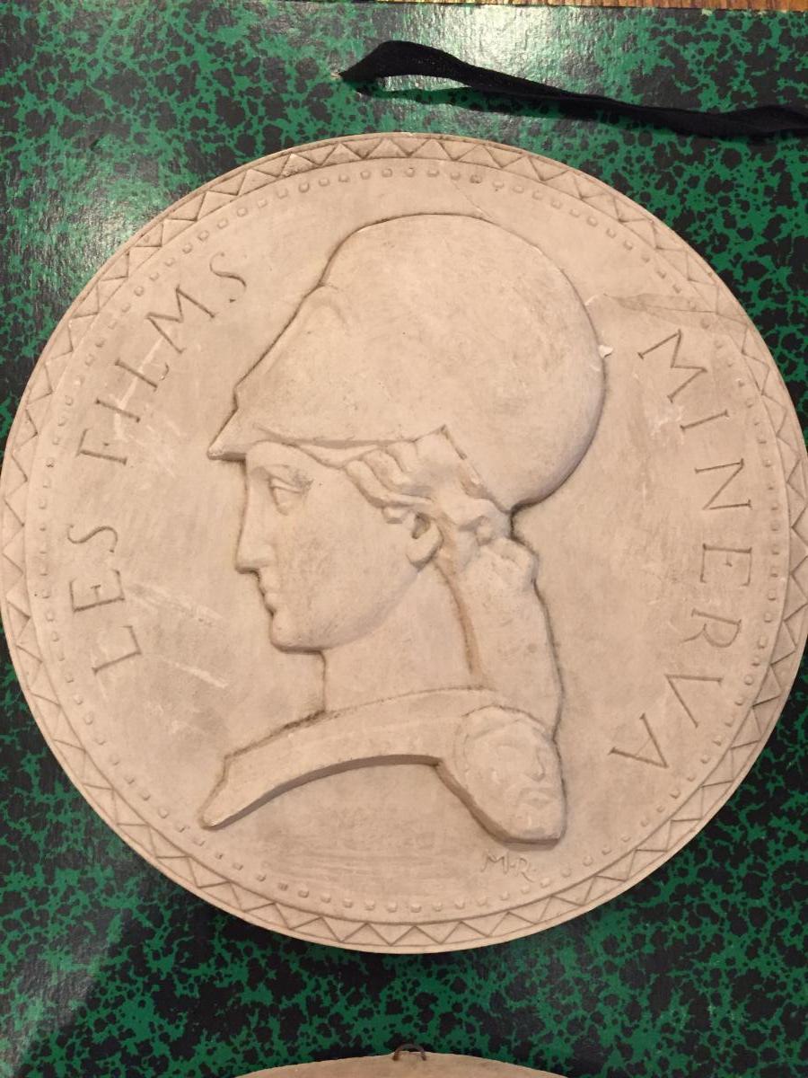 Marcel Renard (lyon 1893-1974) Médaille En Plâtre Pour Les Films Minerva