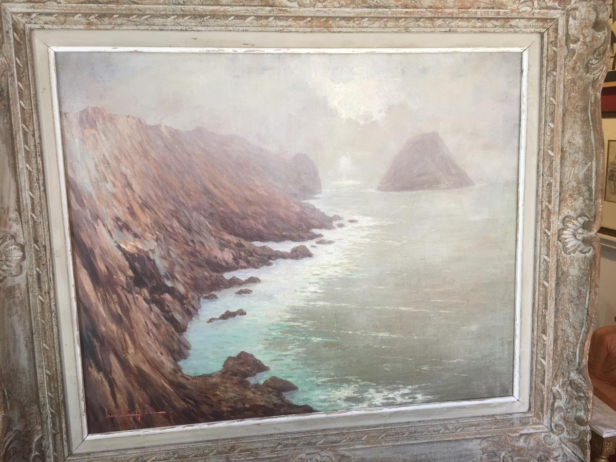 Léon Zeytline (1885-1962) -the Cliffs Of Camaret