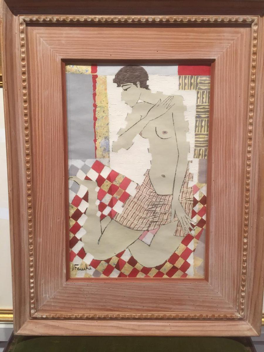 Jacques Fauché (1927-2013) Nude Sitting