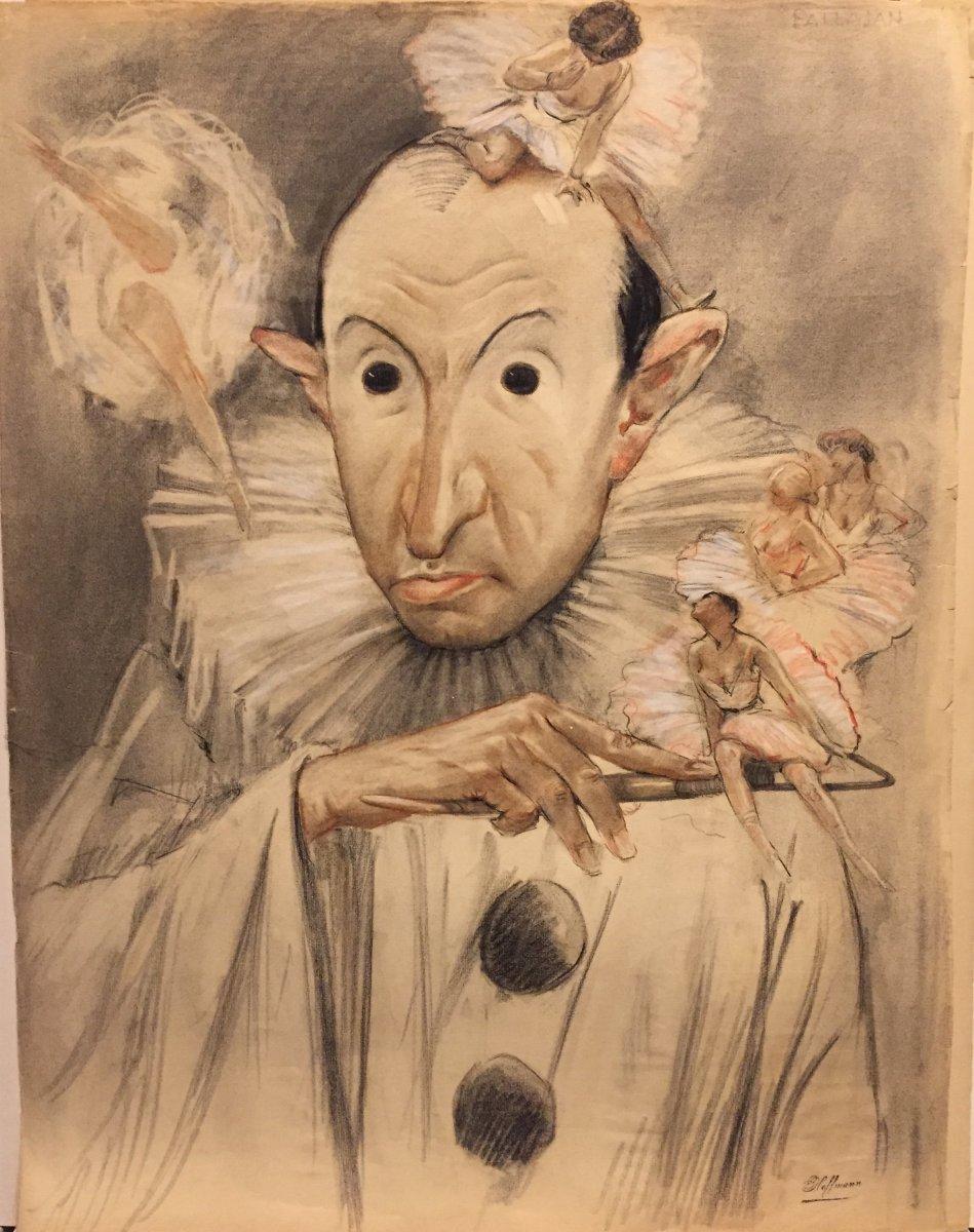 Portrait-charge De Patlajan, Par Gaston Hoffmann, Années 30