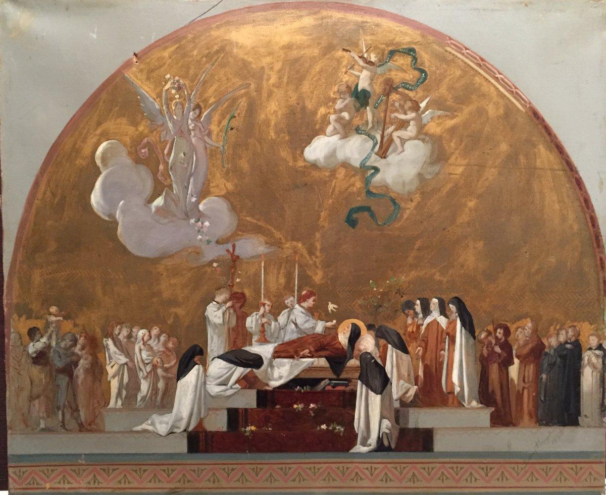 """""""Sainte Cécile"""", tableau d'Alexandre Serres ( 1850-1910)"""