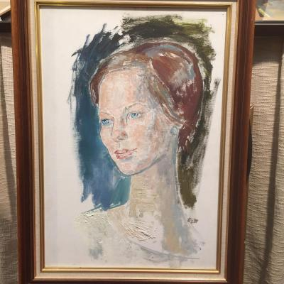 Portrait Of The Future Margrethe Ii, Queen Of Denmark By Edouard Mac Avoy