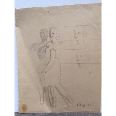 Eugène Robert Pougheon, Profils De Femme