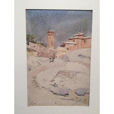 Italian Landscape By Pierre Vignal
