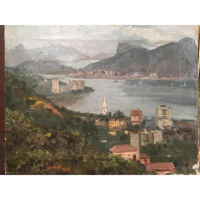 Rio De Janeiro, Oil On Canvas Of 40 Years