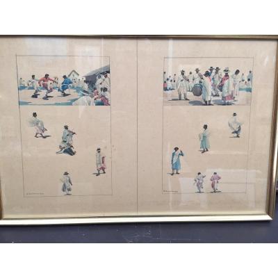 Danses Malgaches,aquarelles De A.ramanda 1933