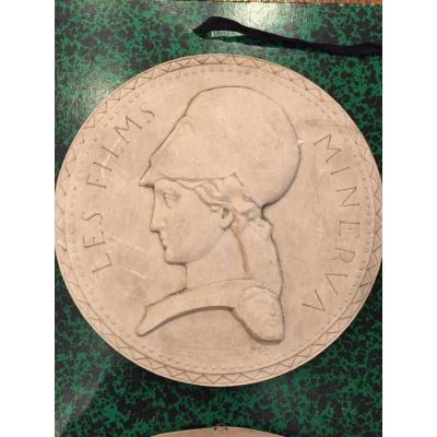 Marcel Renard (lyon 1893-1974) Plaster Medal For Minerva Films