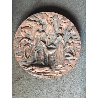 Georges Barthe. Terracotta Dish Around 1940