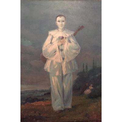 """Pierrot et Colombine"", par Gaston hoffmann (1883-1977)"