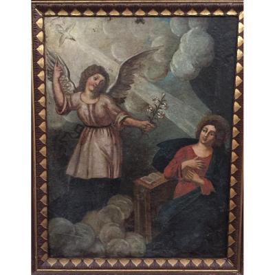"""""""Annonciation"""", huile sur toile, 1692"""