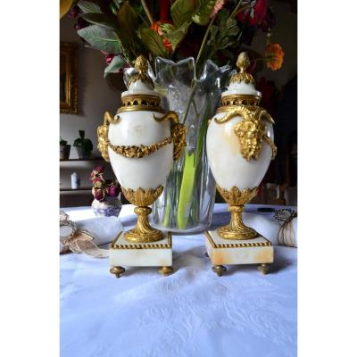 Pair Of Cassolette Louis XVI