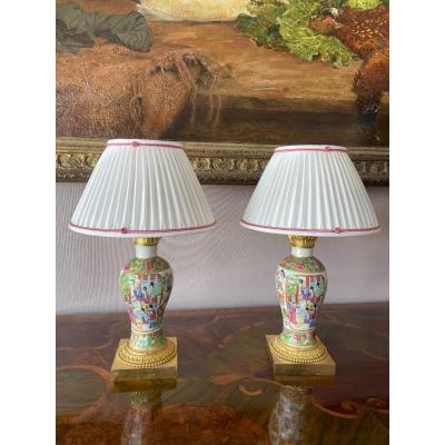 Lampe Porcelaine Canton