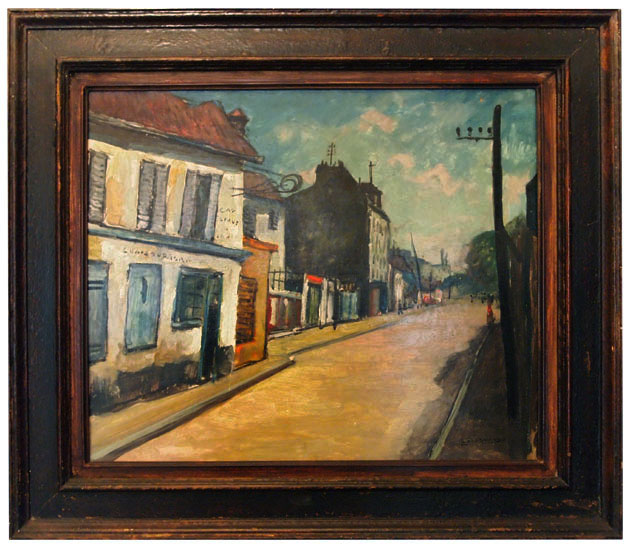 Rue De Village Par Louis Lallemand