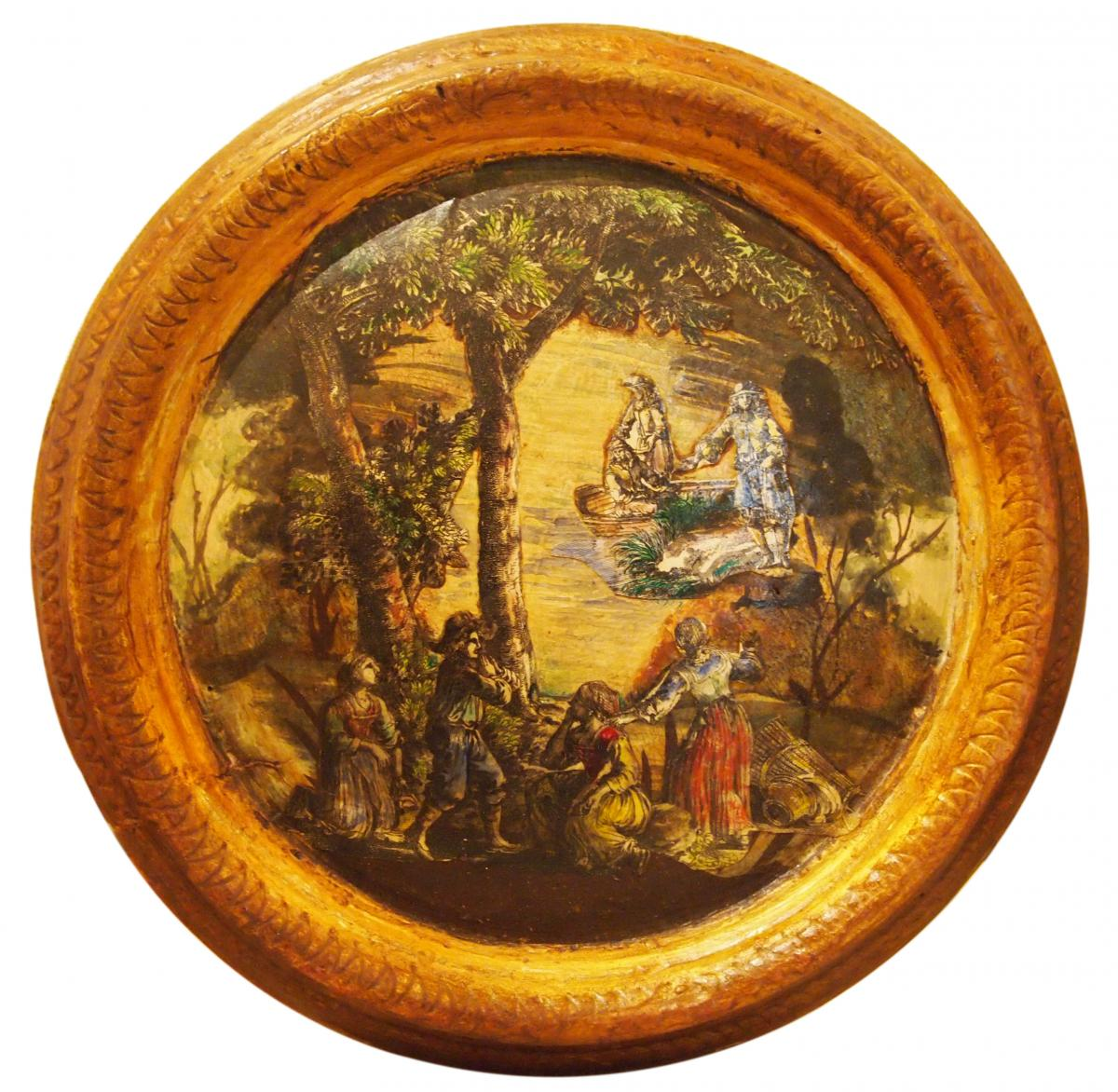 7 Tableaux Ronds En Arte Povera, Italie, 18e Siècle