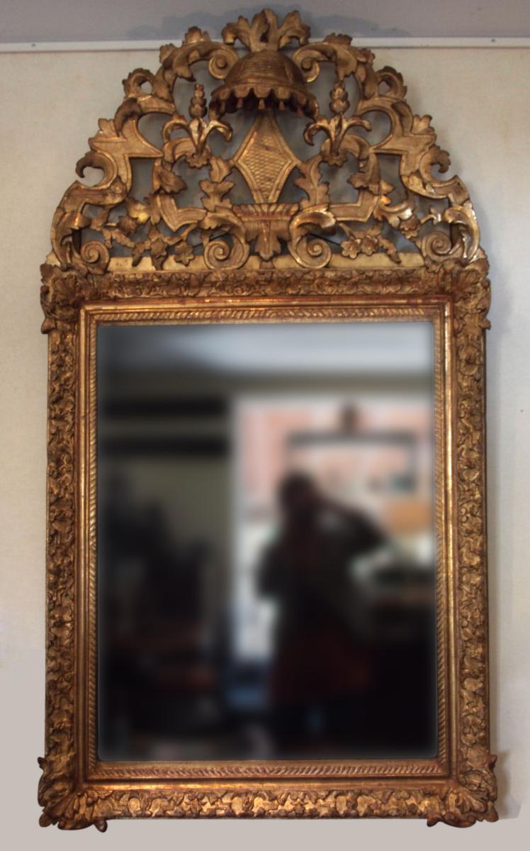 Miroir à Fronton, époque 18e Siècle