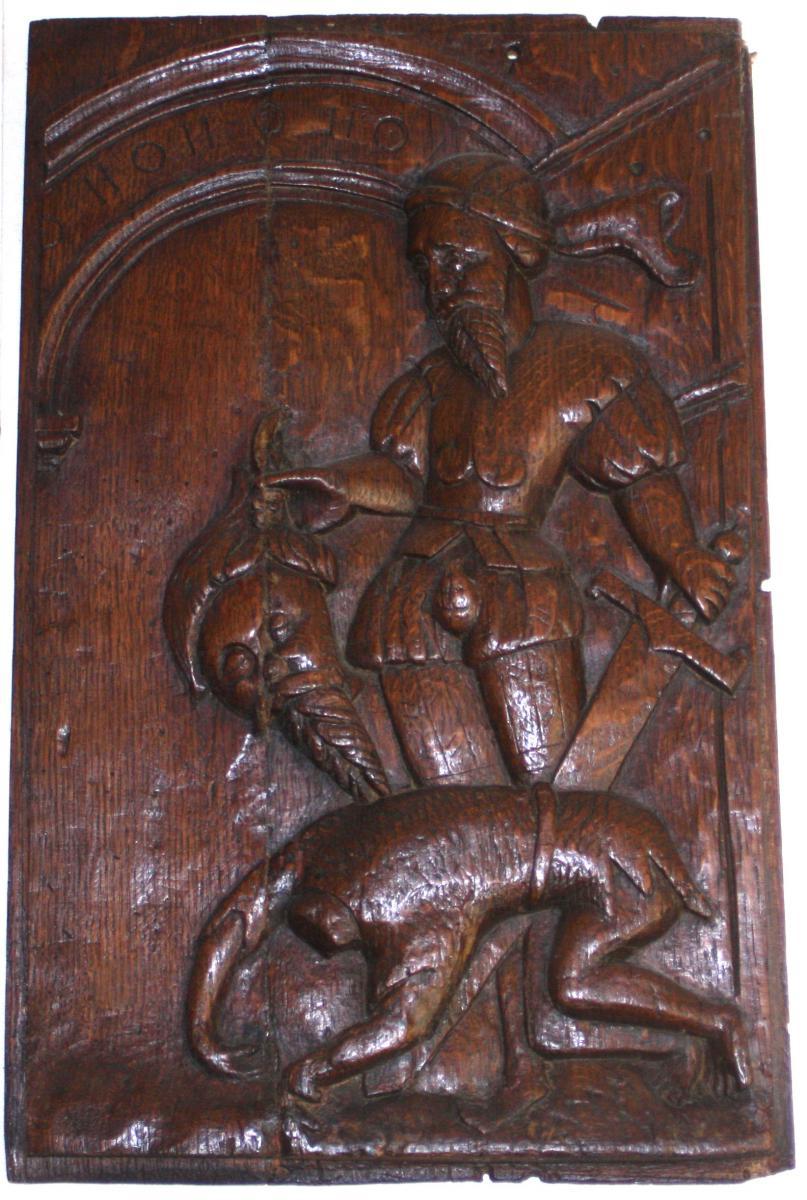 Panneau De Saint, Chêne, 17e Siècle