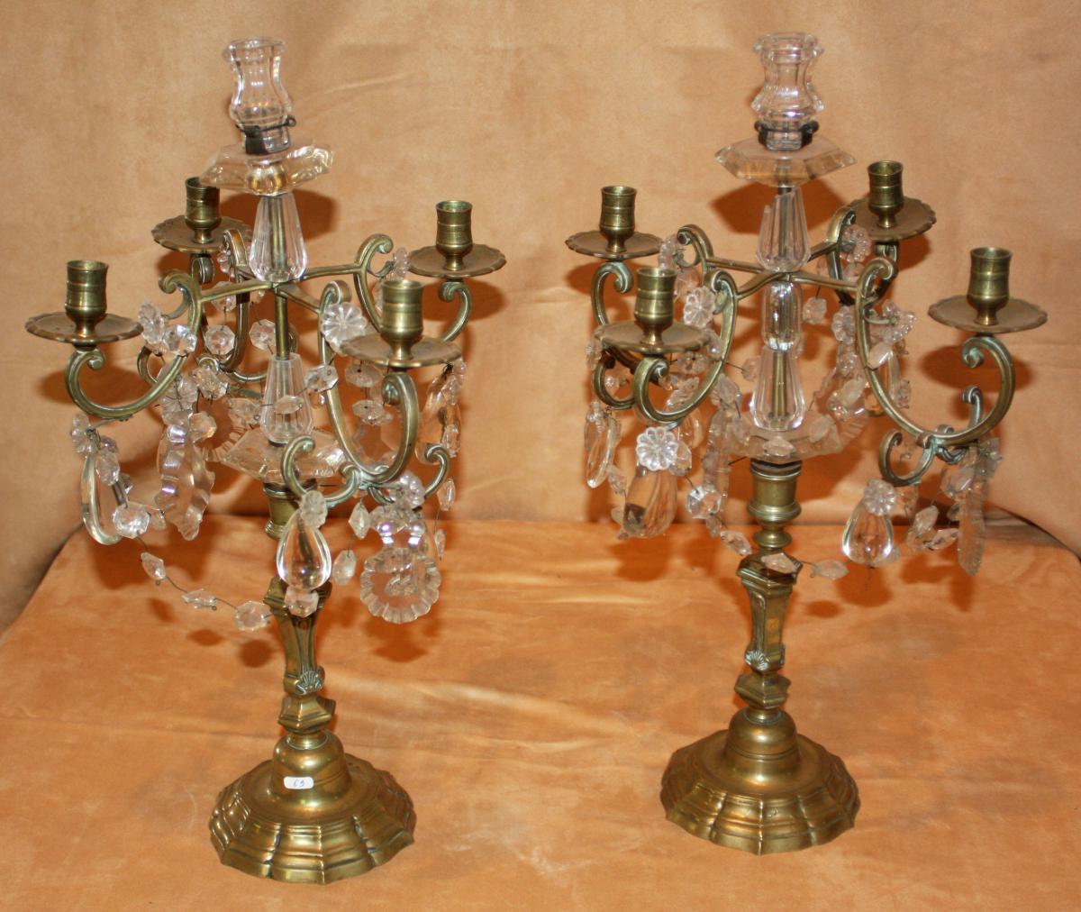 Candlesticks A Pair To Pampilles