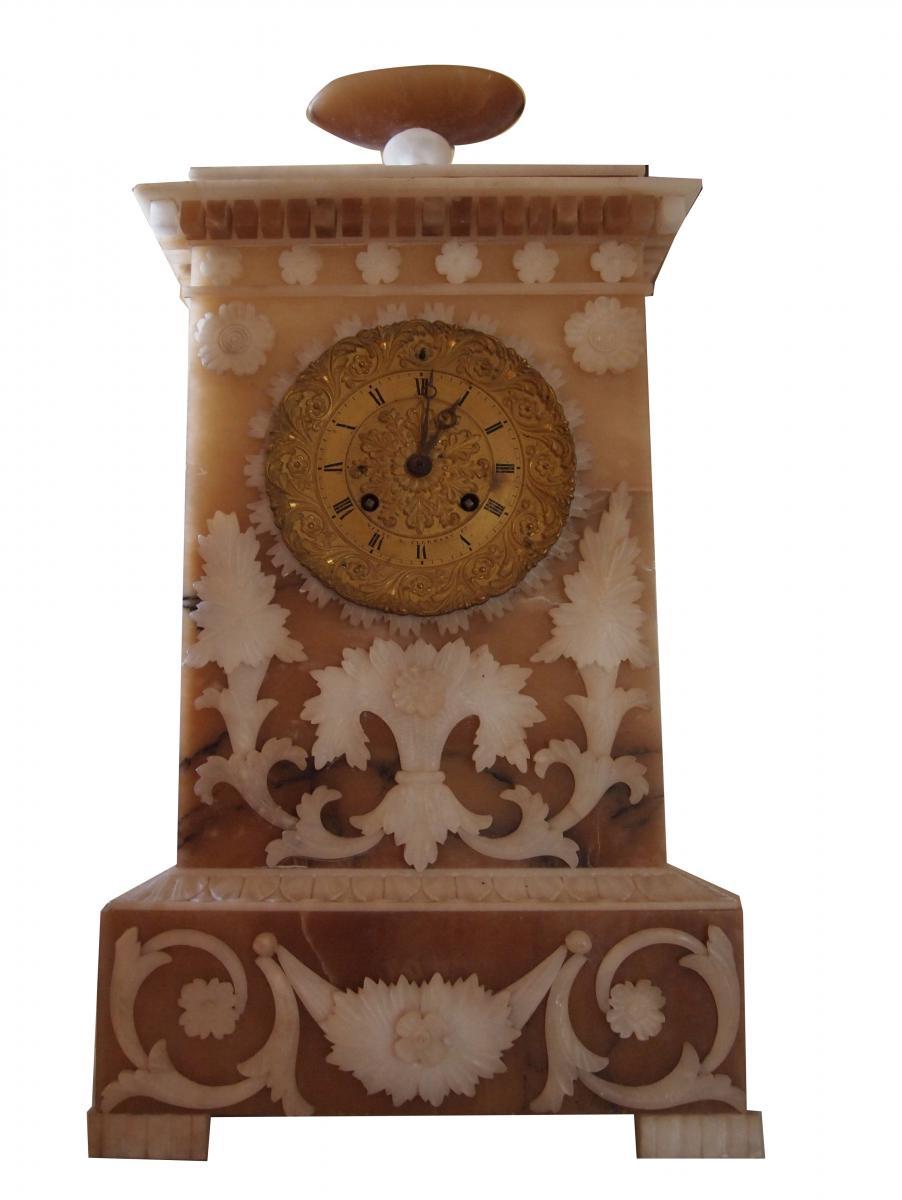 An Alabaster Pendulum Charles X