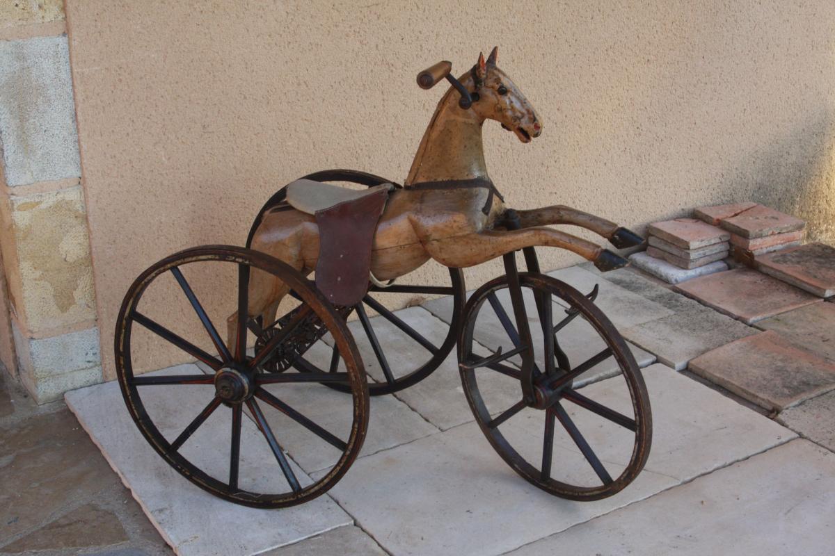 Cheval Tricycle En Bois 19e