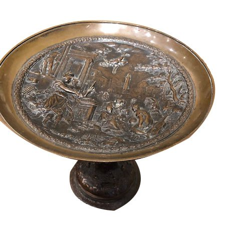 A Cup On Piedouche In Renaissance Style Bronze, 19th Century