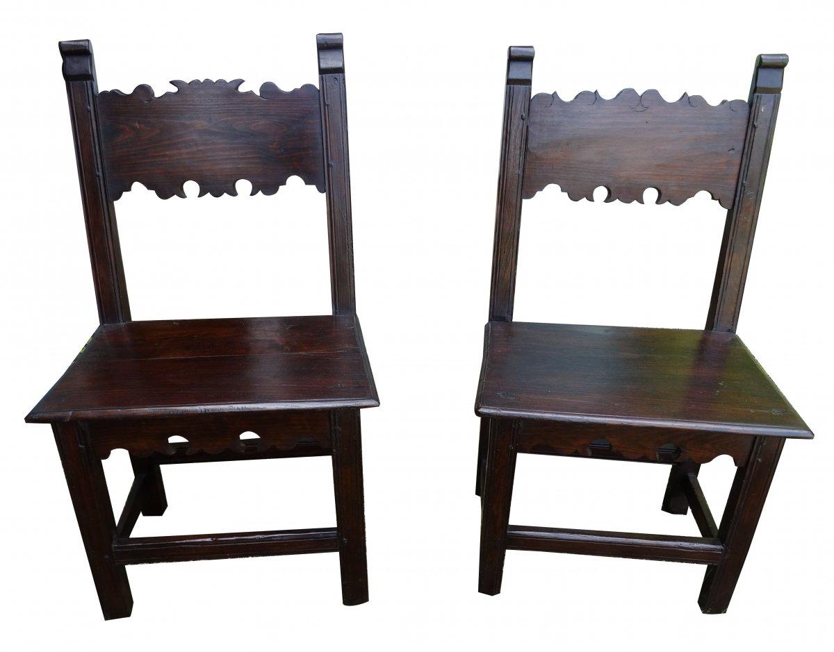 Une Paire De Chaise 17ème