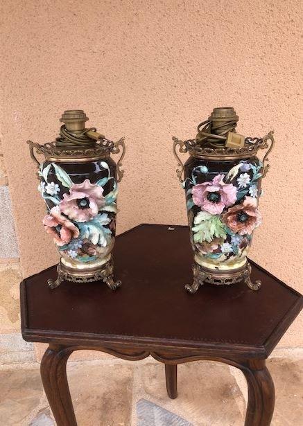 Napoleon III Vase Mounted In Lamp