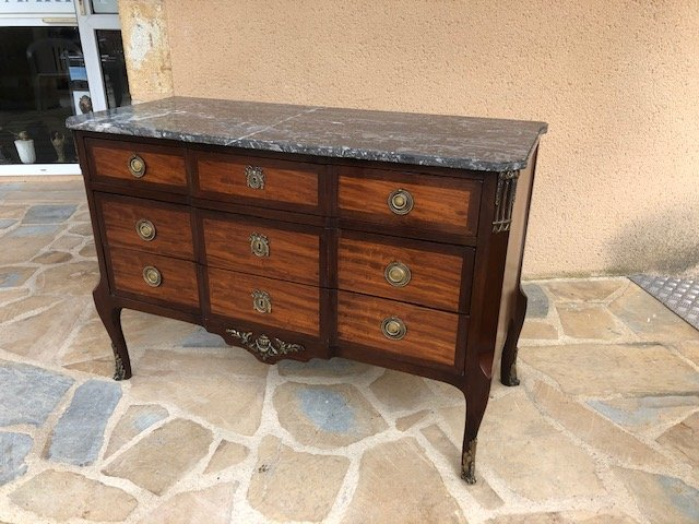 Louis XVI Style Central Jump Commode