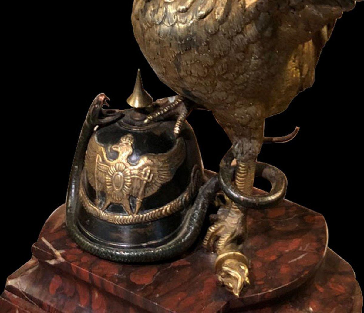 Coq Gaulois En Bronze Doré -photo-4