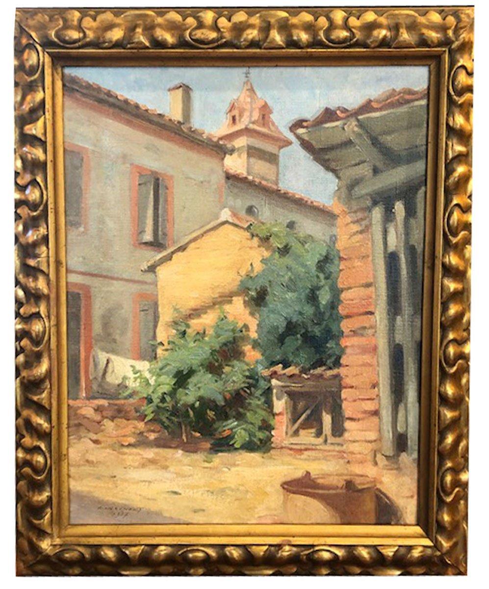 Huile Sur Toile, Maison Par Antoine Raynolt