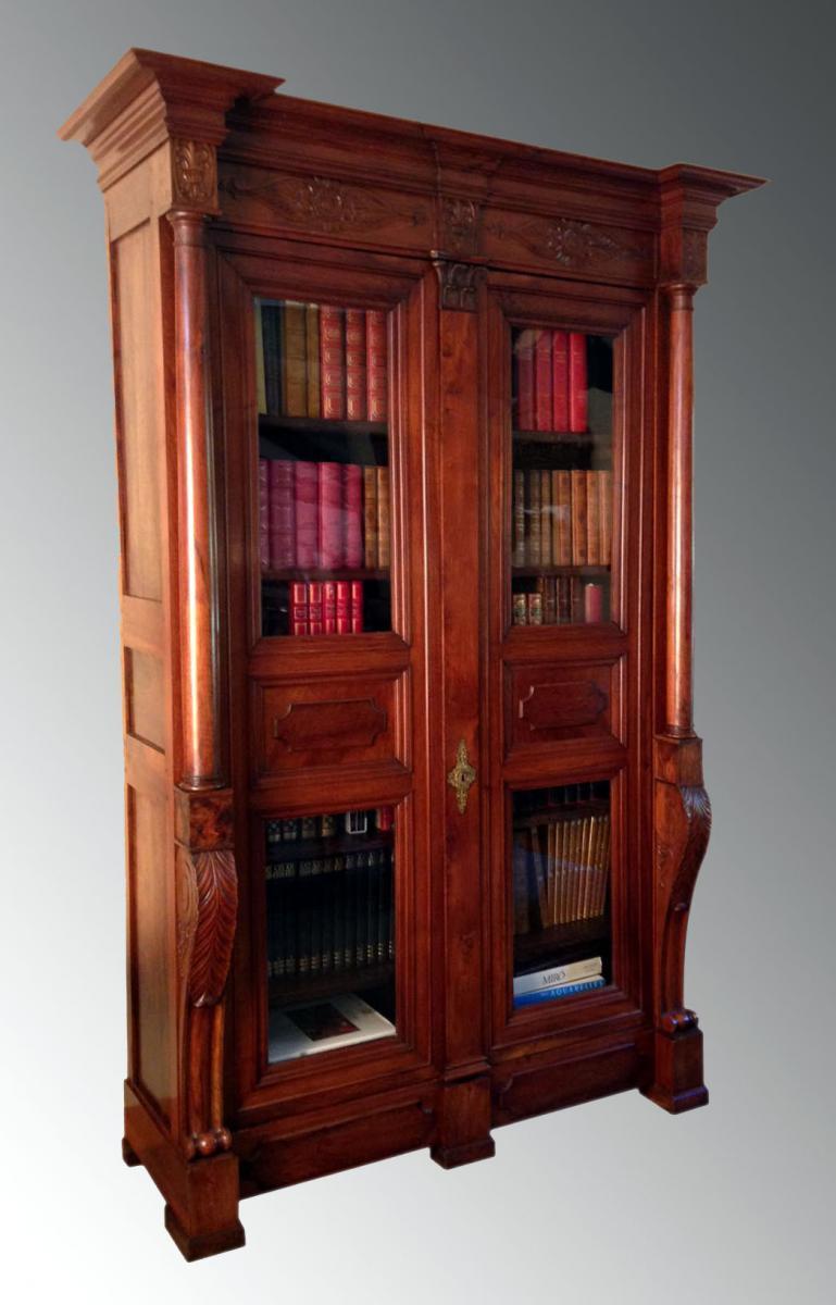 Bibliothèque En Noyer époque Empire