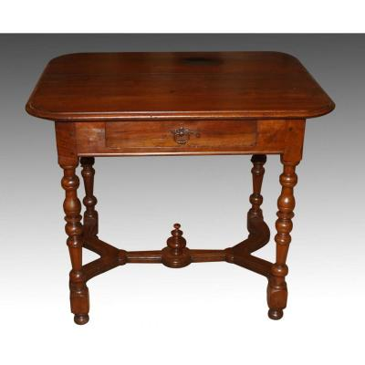 Table In Walnut, Louis XIV