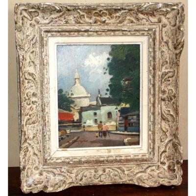 Oil On Canvas, Montmartre By A. Burger