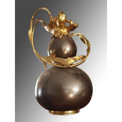 Vase En Laiton, Style Louis XV