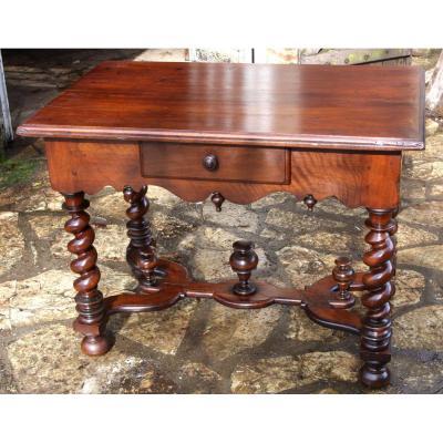 Table Louis XIV En Noyer