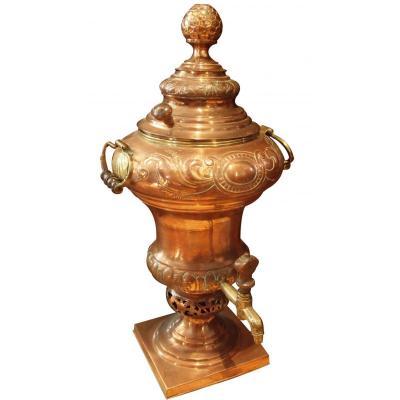 Fontaine à Eau Chaude De Table En Cuivre, époque XVIIIème