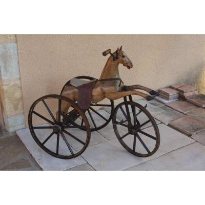 Cheval Tricycle En Bois 19e