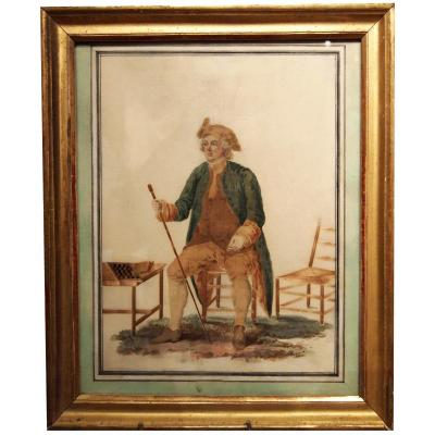 Watercolor With Straw, Character, Early 19th