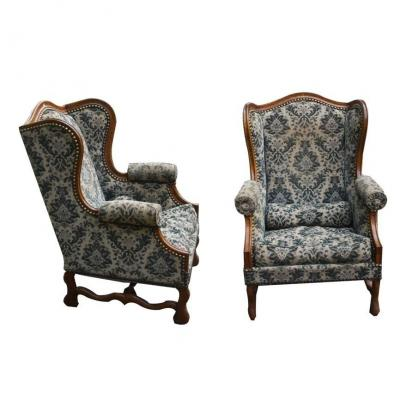 A Pair Of Louis XIV Style Armchairs