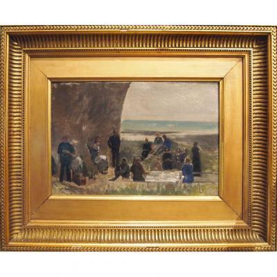 Oil On Canvas, Sunday Exit Seaside